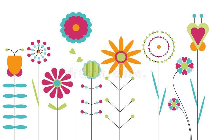 五颜六色的花 皇族释放例证