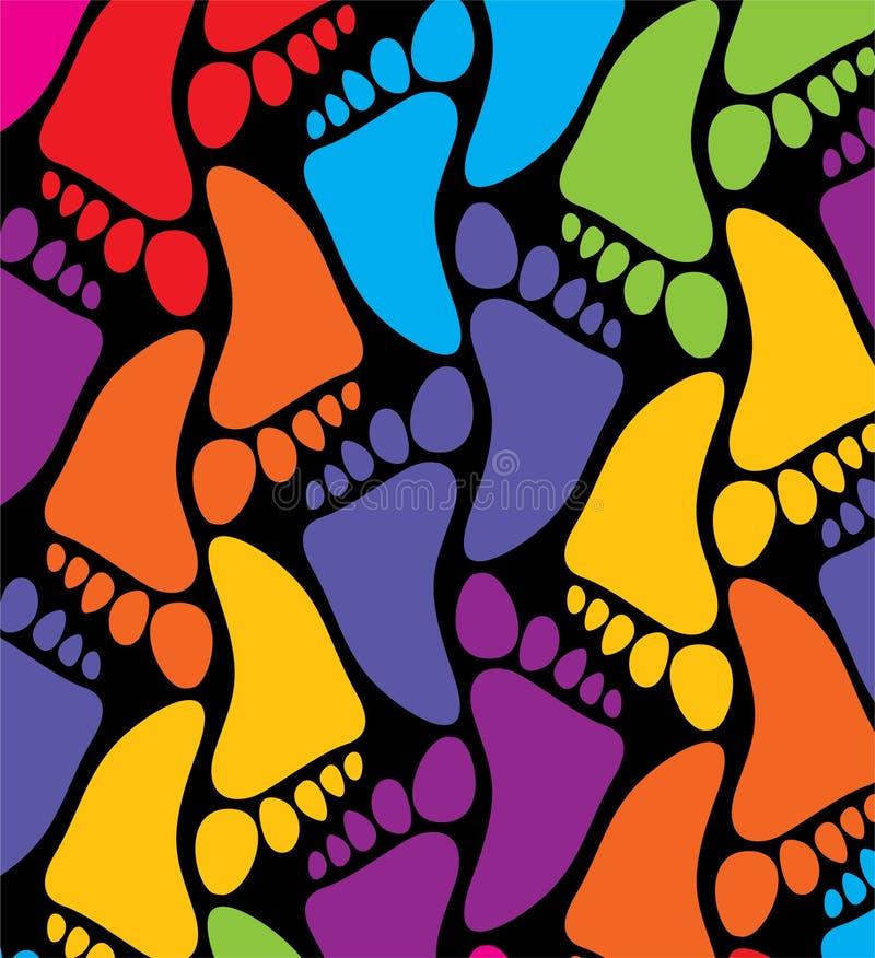 Download 五颜六色的英尺 向量例证. 插画 包括有 图象, 无缝, 对象, 打印, 紫色, 乐趣, 设计, 脚印, 粉红色 - 15675572