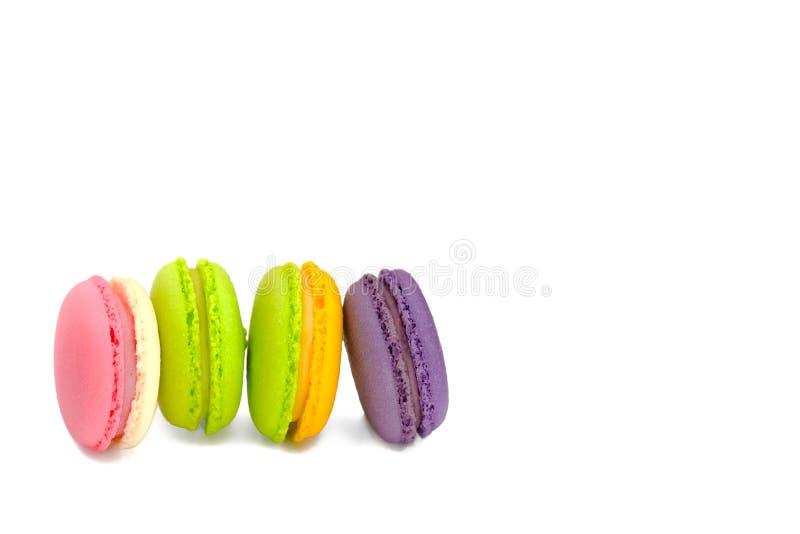 五颜六色的蛋白杏仁饼干的分类 免版税库存照片