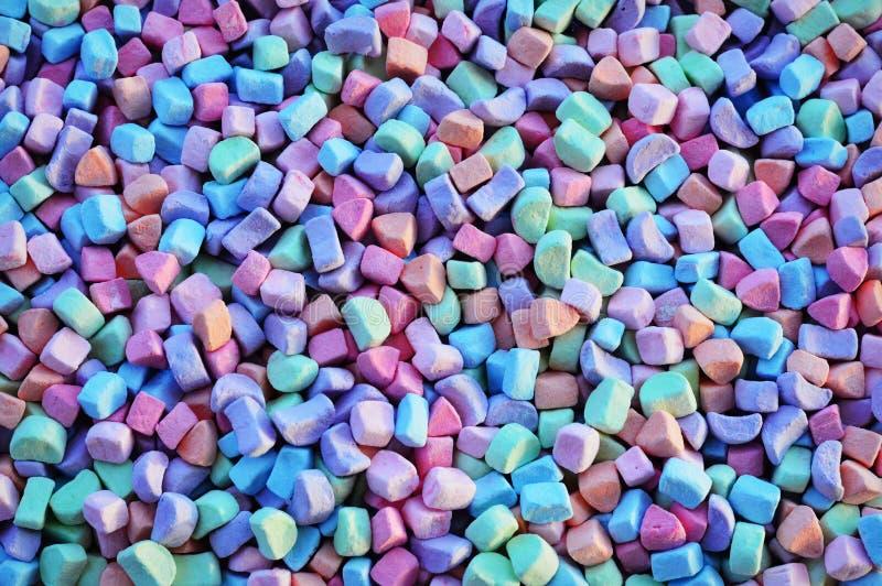五颜六色的蛋白软糖背景 免版税库存照片