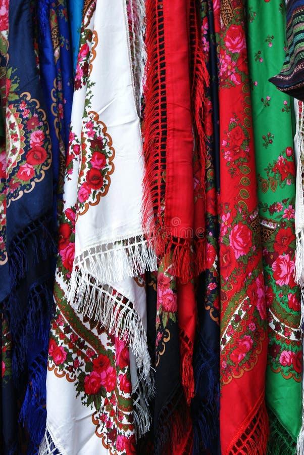 五颜六色的蜡染布织品储蓄照片  免版税库存图片