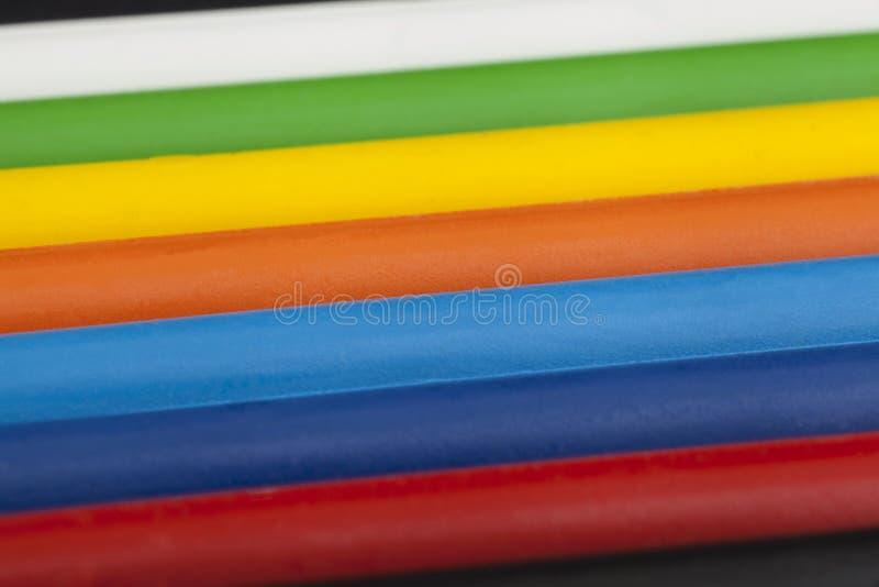 五颜六色的蜡笔蜡 免版税库存照片