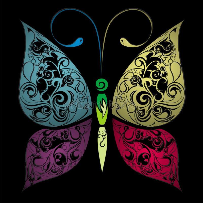 五颜六色的蝴蝶 皇族释放例证