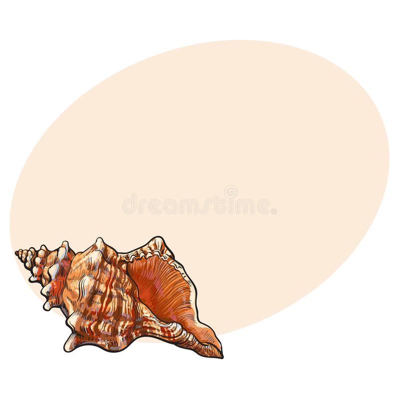 五颜六色的螺旋巧克力精炼机海壳,剪影样式传染媒介例证 库存例证