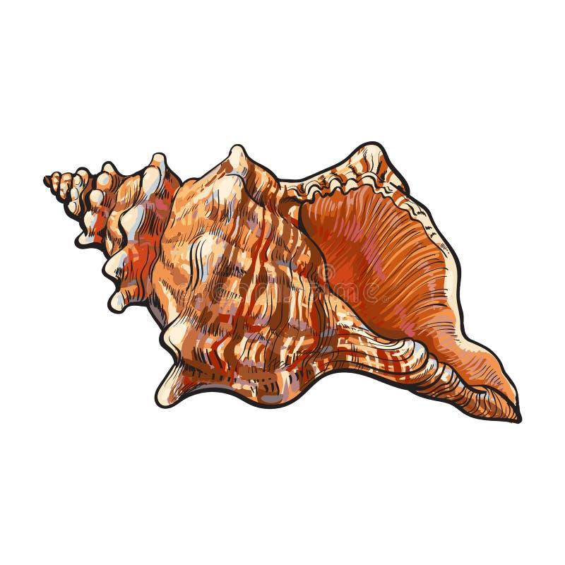 五颜六色的螺旋巧克力精炼机海壳,剪影样式传染媒介例证 皇族释放例证