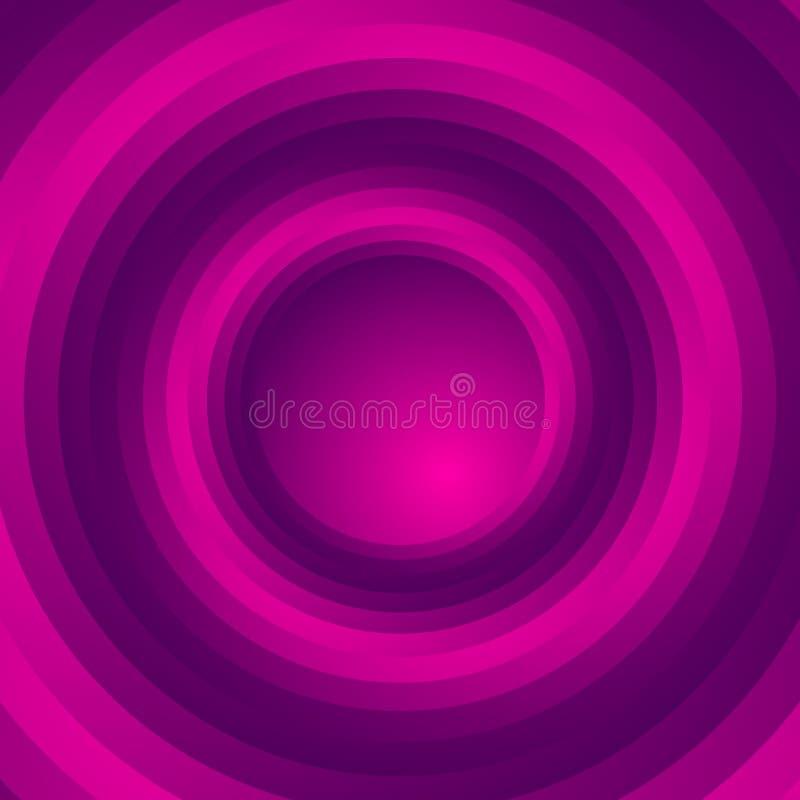 五颜六色的螺旋形涡流背景 转动,同心圆 向量例证