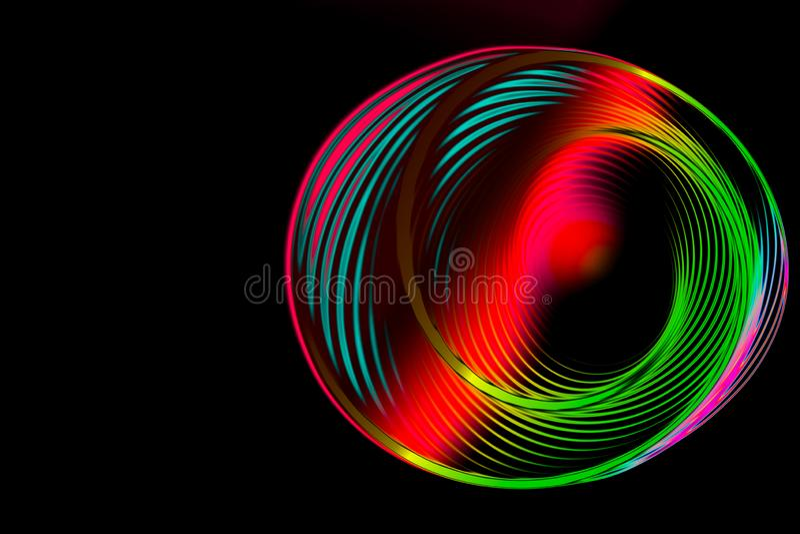 五颜六色的螺旋摘要圆转动的螺旋 库存图片