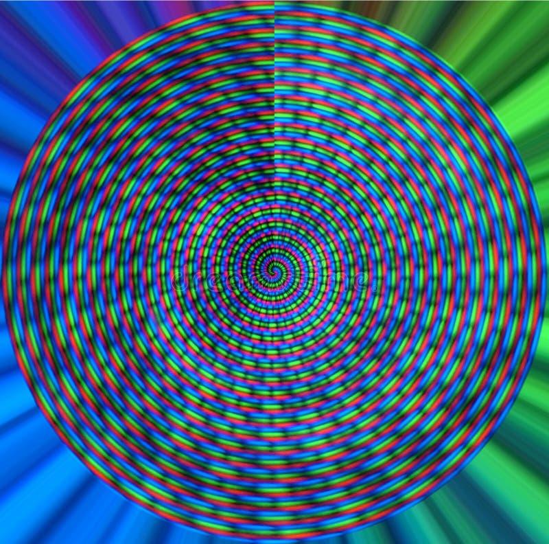 五颜六色的螺旋 皇族释放例证