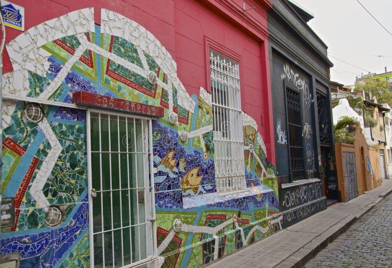 五颜六色的街道在布宜诺斯艾利斯 库存照片