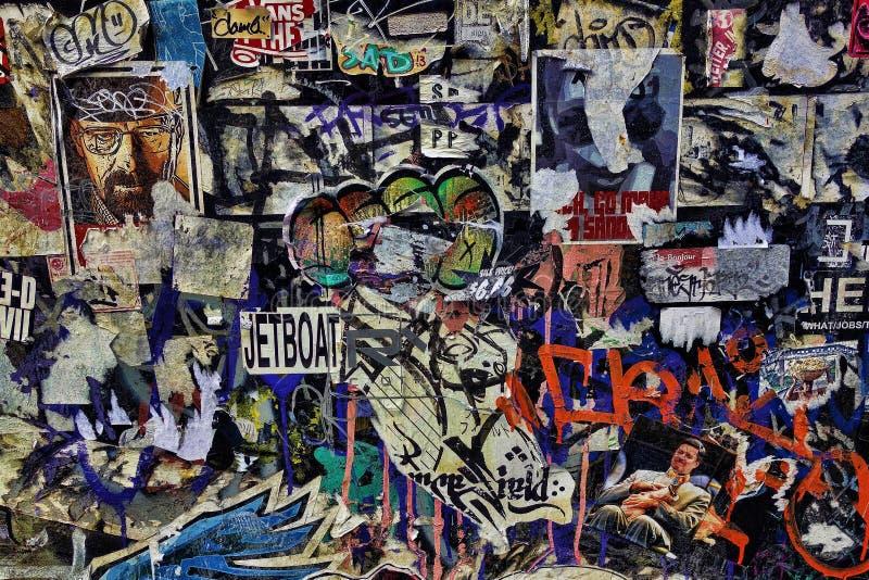 五颜六色的街道街道画 免版税库存图片