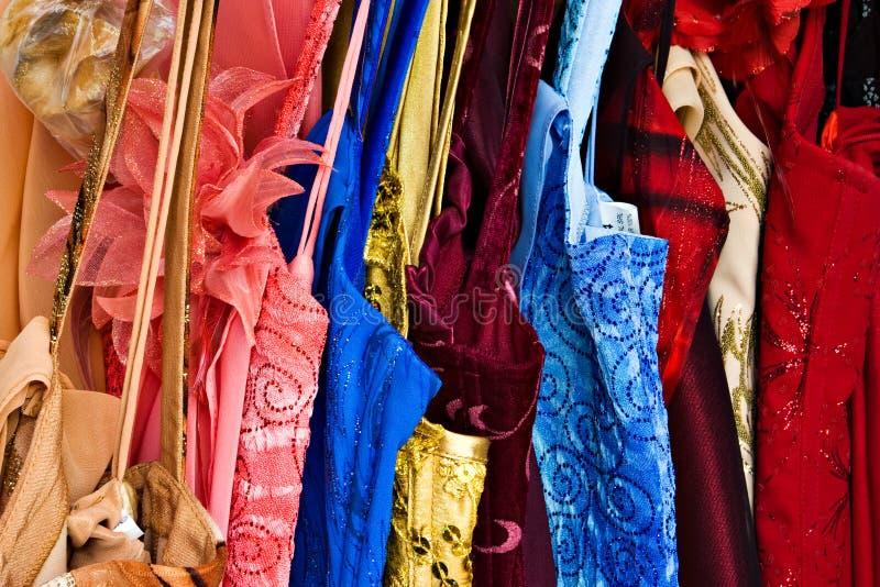 五颜六色的衣架 免版税库存照片