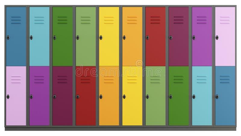 五颜六色的衣物柜 皇族释放例证