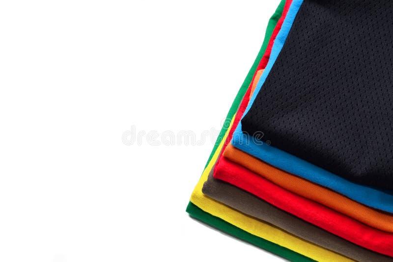 五颜六色的衬衣t 库存照片