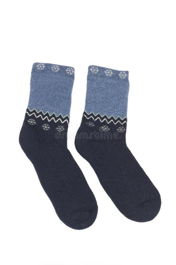 五颜六色的袜子羊毛 免版税库存图片