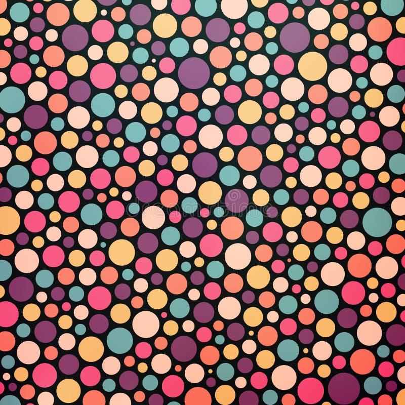五颜六色的被加点的抽象背景 库存例证