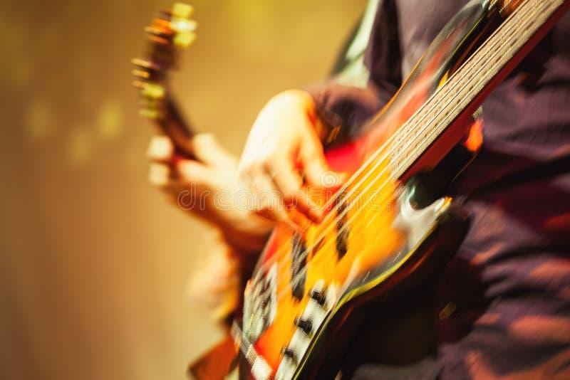 五颜六色的被弄脏的摇滚乐背景 免版税库存照片