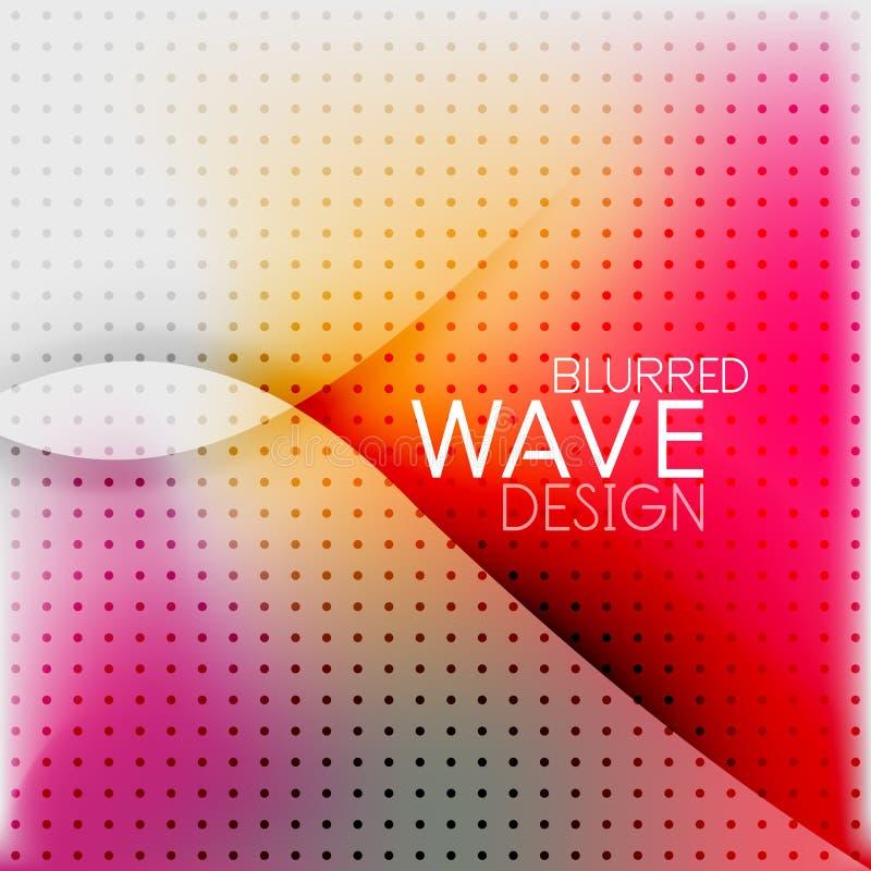 五颜六色的被弄脏的波浪企业背景 向量例证