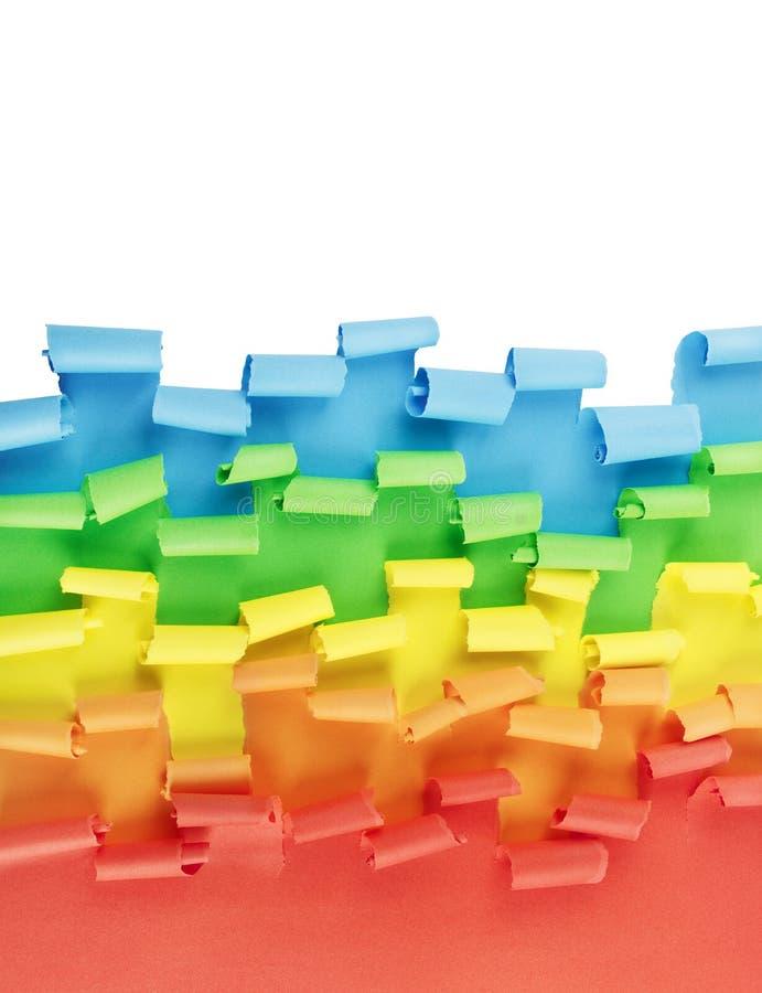 五颜六色的被撕毁的纸边界 免版税库存图片