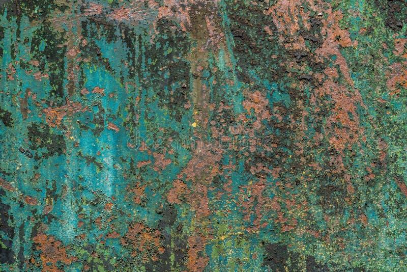 五颜六色的被毁坏的墙壁织地不很细难看的东西背景 库存照片