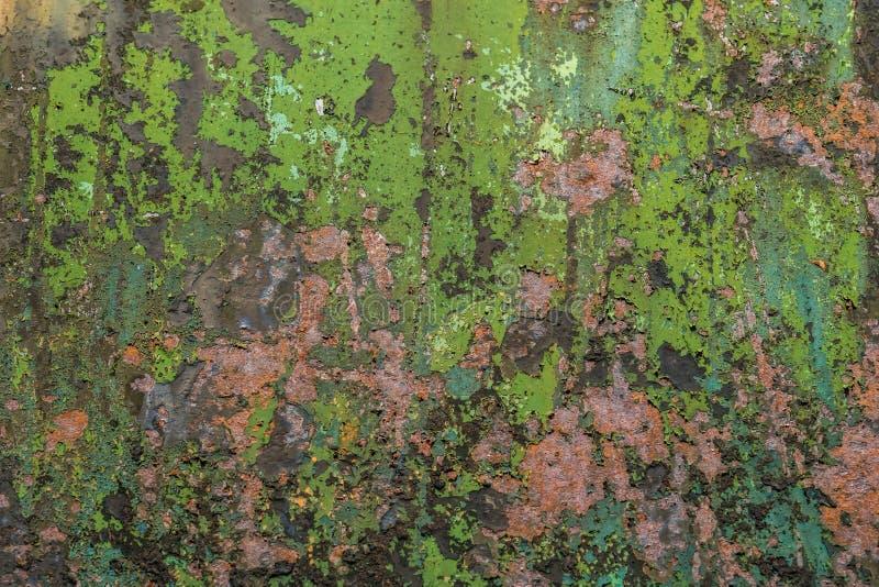 五颜六色的被毁坏的墙壁织地不很细难看的东西背景 免版税库存图片