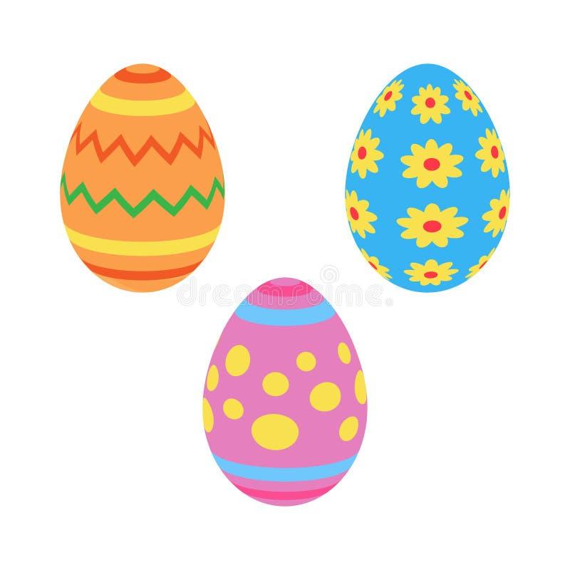 五颜六色的被绘的传统复活节彩蛋 皇族释放例证