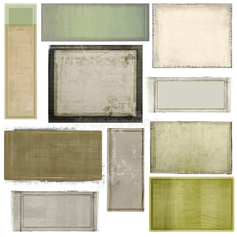 五颜六色的被绘的面板 库存例证