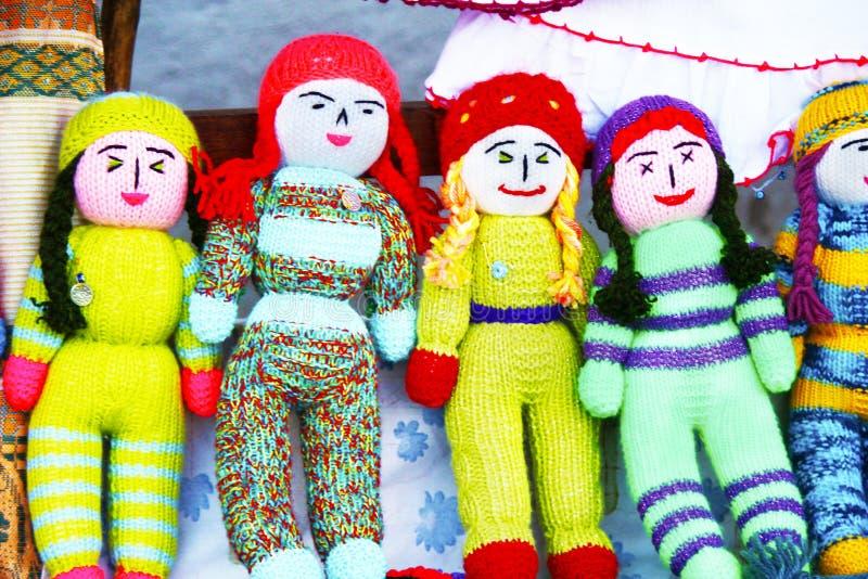 五颜六色的被编织的婴孩 图库摄影