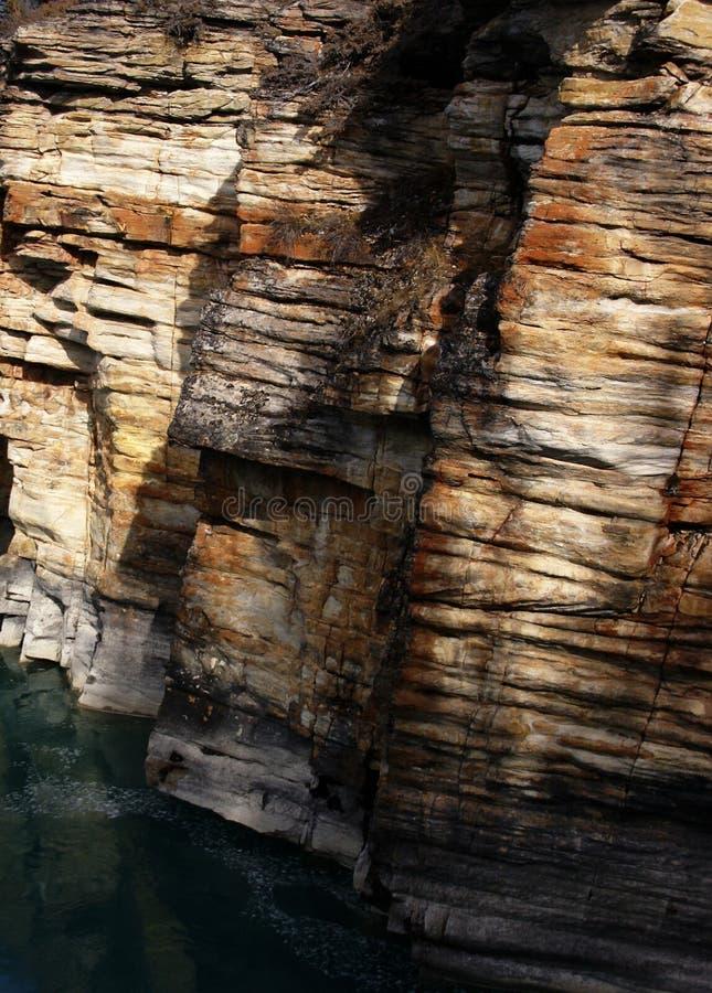 五颜六色的被腐蚀的石灰石 免版税库存图片