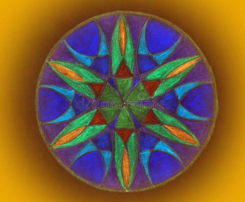 五颜六色的被绘的坛场 免版税库存照片