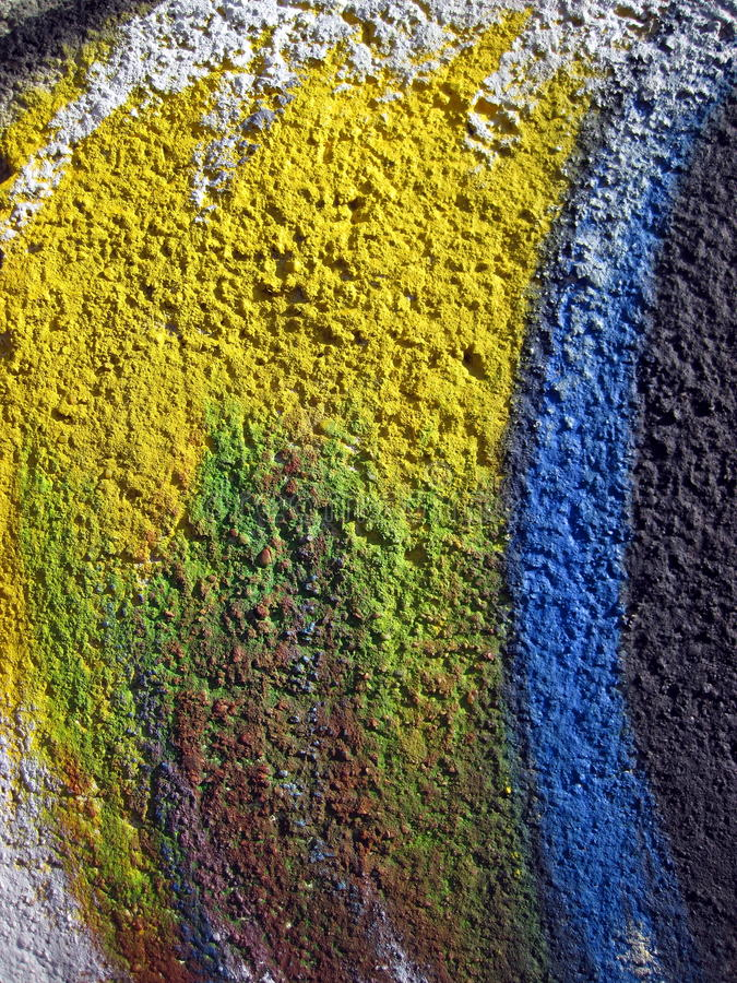 五颜六色的被绘的墙壁 库存图片
