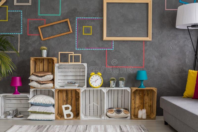 五颜六色的装饰墙壁 免版税库存照片