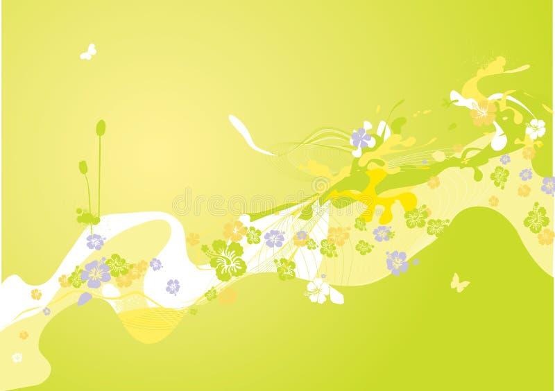 五颜六色的装饰春天 向量例证