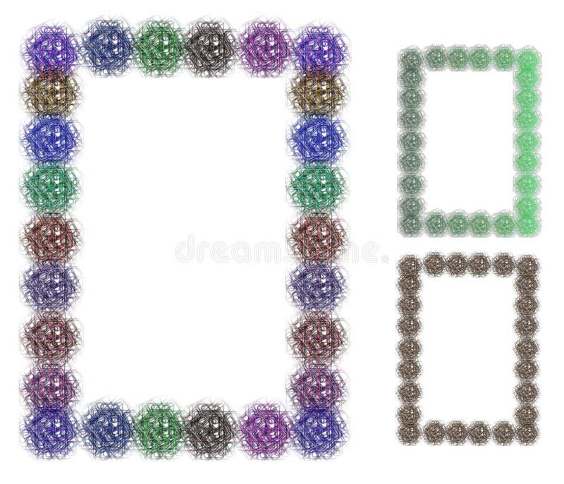 五颜六色的装饰框架 免版税库存照片