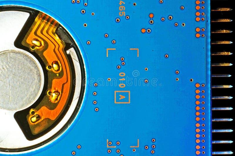 五颜六色的计算机内部硬盘 免版税库存图片