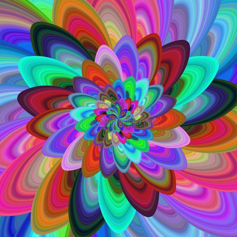 五颜六色的计算机生成的分数维背景 向量例证