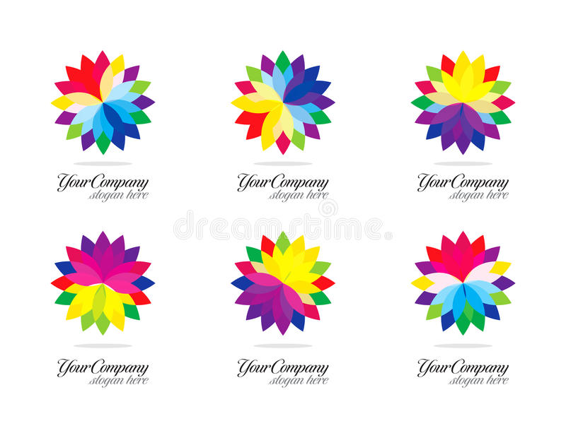 五颜六色的设计徽标 库存例证