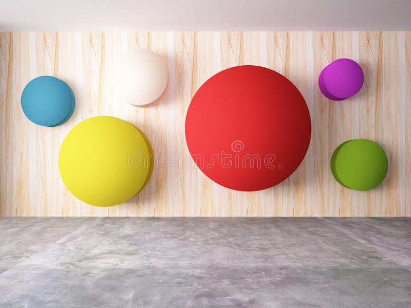五颜六色的设计抽象墙壁  向量例证