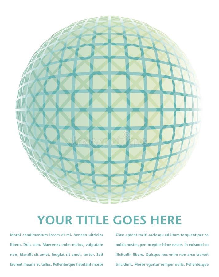 五颜六色的设计数字式地球 向量例证