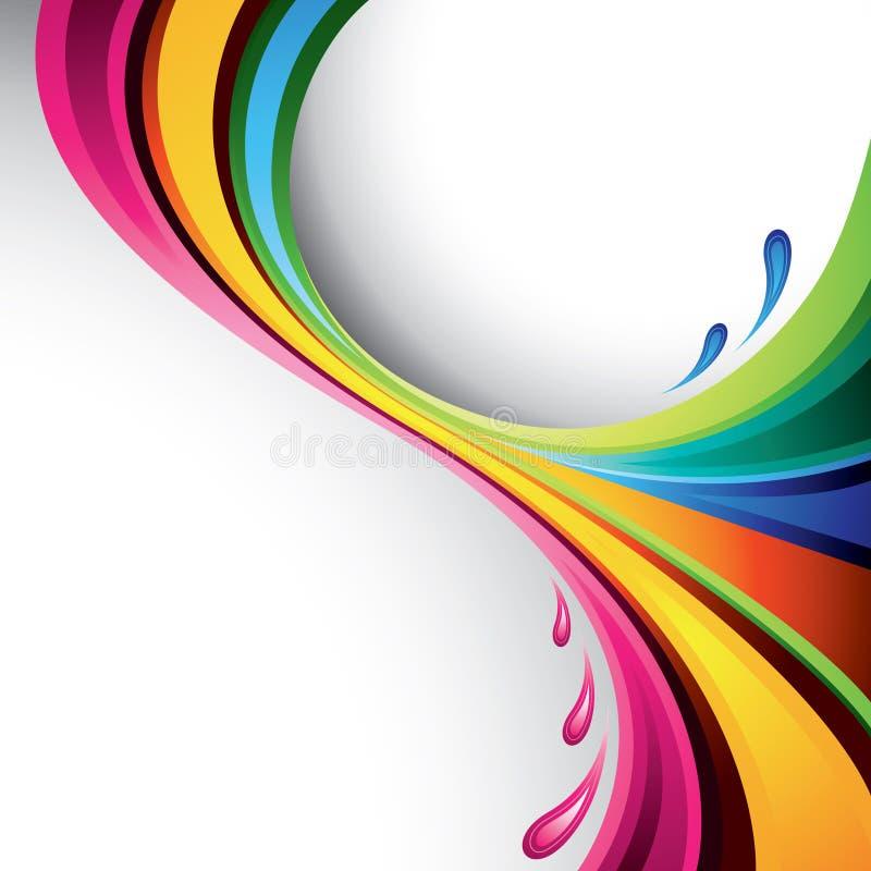 五颜六色的设计飞溅 库存例证