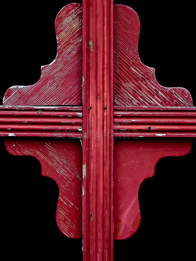 五颜六色的详细资料红色被风化的视&# 免版税库存图片