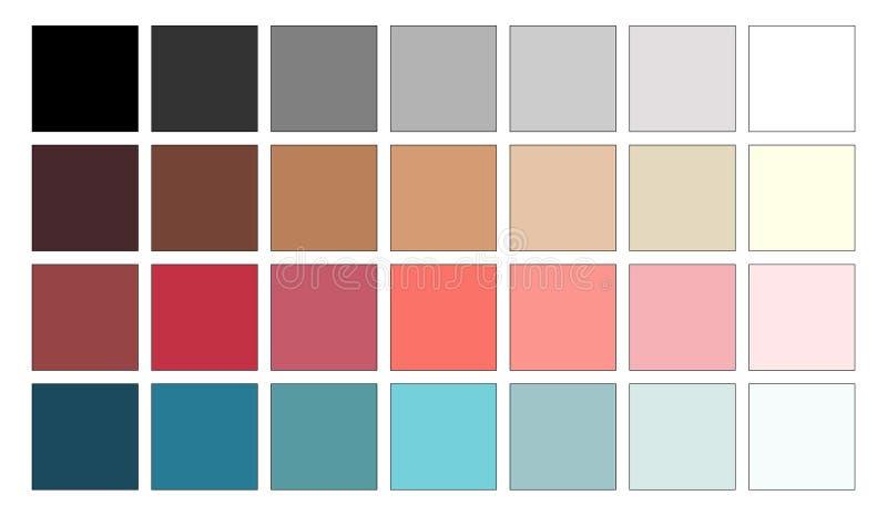 五颜六色的调色板概念 导航桃红色和蓝色指南 颜色梯度 平的收藏图表彩色组设计 皇族释放例证