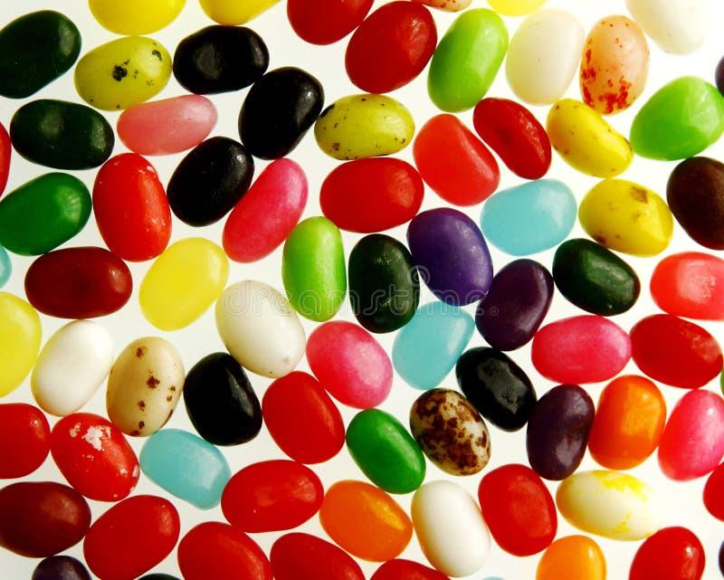 五颜六色的豆形软糖 免版税图库摄影