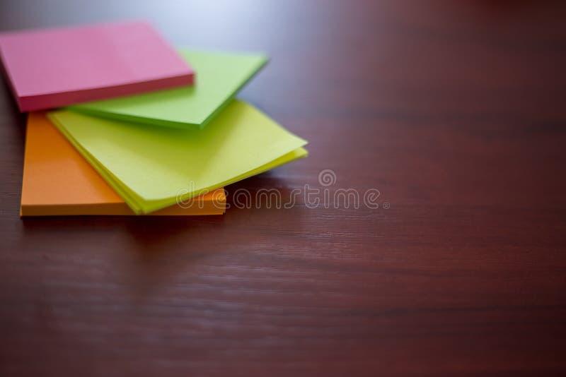 五颜六色的贴纸, 免版税库存图片