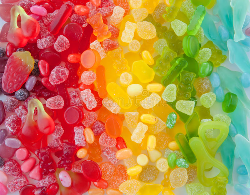 五颜六色的软的糖果 免版税库存照片