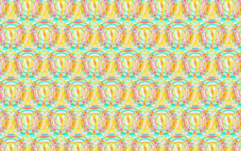 五颜六色的软的色环样式以绿色、黄色和红色 皇族释放例证