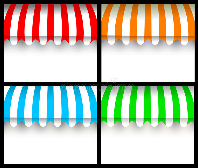 五颜六色的遮篷 库存例证