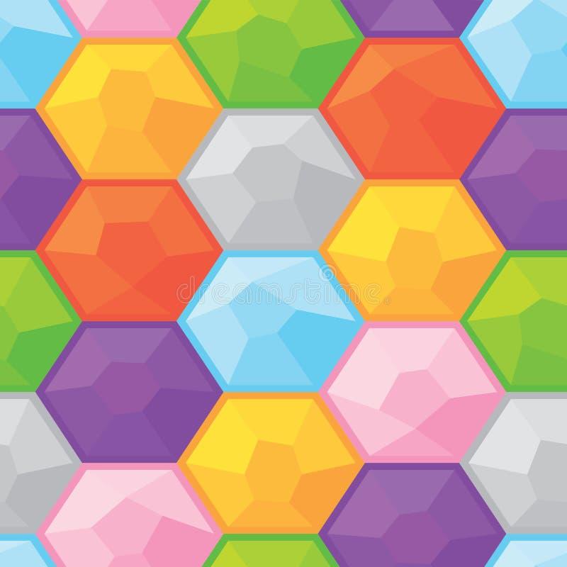 五颜六色的金刚石无缝的向量图形样式 向量例证