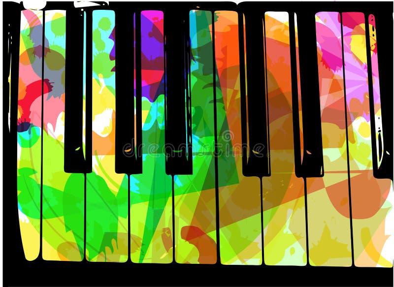 五颜六色的钢琴例证 向量例证