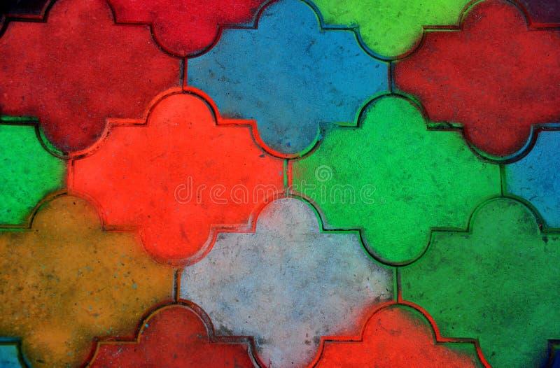 五颜六色的铺的瓦片 图库摄影