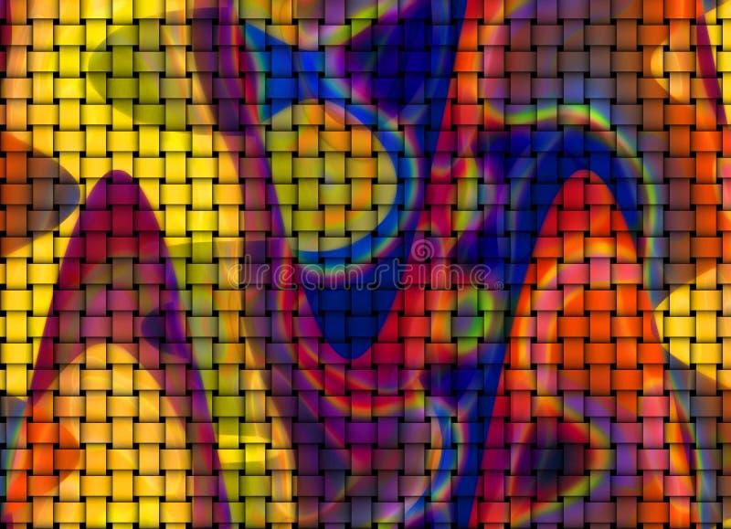 五颜六色的铺磁砖的背景 免版税库存照片